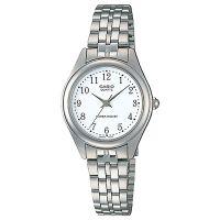 Casio Uhr LTP-1129PA-7B Damen Armbanduhr Edelstahl Silber Weiß Watch NEU & OVP