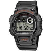 Casio Uhr W-735H-8A Herren Digitaluhr Armbanduhr Grau Silber Orange NEU & OVP