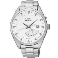 Seiko Kinetic Uhr SRN043P1 Herrenuhr Silber Edelstahl Datum Watch NEU & OVP