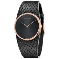 Calvin Klein Uhr K5V236C1 Spellbound Damen Leder Kroko Swiss Made NEU & OVP