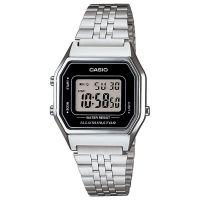 Casio Uhr LA680WEA-1EF Digitaluhr Armbanduhr Damen Silber Schwarz Watch NEU & OVP