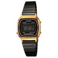 Casio Uhr LA670WEGB-1BEF Digital Damen Armbanduhr Schwarz Gold Watch NEU & OVP