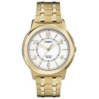 Timex Uhr TW2P62000 BANK STREET Herren Edelstahl Gold Weiß Watch Men NEU & OVP