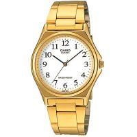 Casio Herrenuhr MTP-1130N-7B Armbanduhr Edelstahl Gold Weiß men watch NEU & OVP