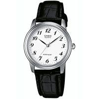Casio Uhr MTP-1236PL-7B Herren Armbanduhr Leder Weiß Silber Schwarz NEU & OVP