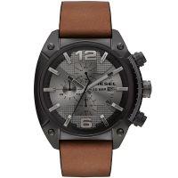 Diesel Uhr DZ4317 Herrenuhr XL Overflow Chronograph Braun Leder Watch NEU & OVP