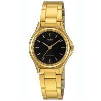 Casio Damenuhr LTP-1130N-1A Armbanduhr Edelstahl Schwarz Gold watch NEU & OVP