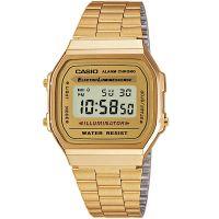 Casio Uhr A168WG-9EF Retro Digitaluhr Armbanduhr Herren Damen Gold NEU & OVP