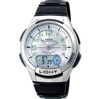 Casio Uhr AQ-180W-7BVES Analog Digital Herren Damen Schwarz Watch NEU & OVP