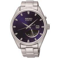 Seiko Kinetic Uhr SRN047P1 Herrenuhr Silber Edelstahl Datum Watch NEU & OVP