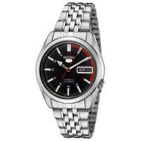 Seiko 5 Gent Uhr SNK375K1 Herren Automatikuhr Silber Schwarz Watch NEU & OVP