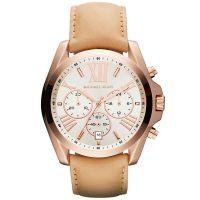 Michael Kors Uhr MK2292 Damenuhr Roségold Leder Chronograph Watch NEU & OVP