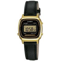 Casio Collection Uhr LA670WEGL-1EF Digital Damen Armbanduhr Schwarz NEU & OVP