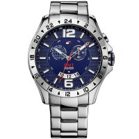 Tommy Hilfiger Uhr 1790975 Baron Herrenuhr Blau Silber Edelstahl Watch NEU & OVP