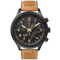 Timex Uhr T2N700 IQ FLY-BACK Intelligent Herrenuhr Chronograph Leder NEU & OVP