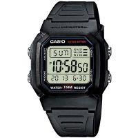 Casio Uhr W-800H-1A Herren Damen Digitaluhr Armbanduhr Schwarz Silber NEU & OVP