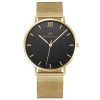 Mendozza Uhr MW-RG0204H-GM Midnight Black Armbanduhr Gold Schwarz