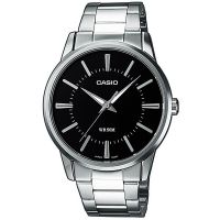 Casio Uhr MTP-1303PD-1A Herren Armbanduhr Edelstahl Silber Black Watch NEU & OVP