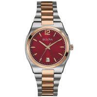 Bulova Uhr 98M119 Damenuhr Edelstahl Rot Silber Roségold Watch Women NEU & OVP