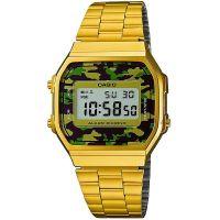 Casio Uhr A168WEGC-3EF Retro Digital Armbanduhr Herren Gold Camouflage NEU & OVP