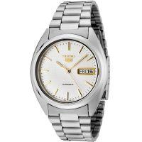 Seiko 5 Gent Uhr SNXG47K Automatikuhr Silber Weiß Gold Herrenuhr Watch NEU & OVP
