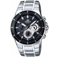 Casio Edifice Herrenuhr EF-552D-1AVEF Armbanduhr Edelstahl Schwarz Silber NEU &