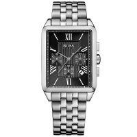 Hugo Boss Uhr 1512576 Herrenuhr Schwarz Silber Edelstahl Men Watch NEU & OVP