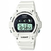 Casio Uhr W-214HC-7AVEF Herren Damen Digitaluhr Armbanduhr Weiß Watch NEU & OVP