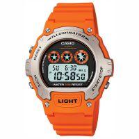 Casio Uhr W-214H-4AVEF Herren Damen Digital Armbanduhr Orange Silber NEU & OVP