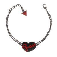 Guess Armband UBB81102 Damen Armkette Schwarz Herz Anhänger Strass NEU & OVP