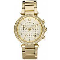 Michael Kors Uhr MK5354 Damenuhr Gold Strass Edelstahl Chronograph NEU & OVP