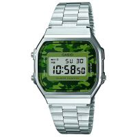 Casio Uhr A168WEC-3EF Retro Digital Armbanduhr Herren Damen Camouflage NEU & OVP