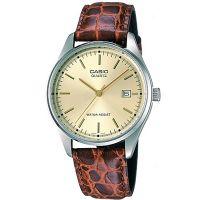 Casio Herrenuhr MTP-1175E-9A Armbanduhr Leder Braun Silber Datum NEU & OVP