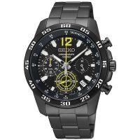 Seiko Uhr SSB131P1 Herrenuhr Chronograph Schwarz Edelstahl Datum Watch NEU & OVP