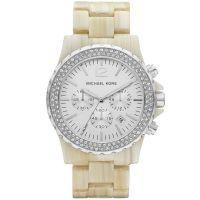 Michael Kors Uhr MK5598 Madison Damenuhr Silber Horn Chronograph Watch NEU & OVP