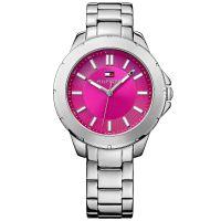 Tommy Hilfiger Damenuhr 1781436 Armbanduhr Edelstahl Silber Pink watch NEU & OVP