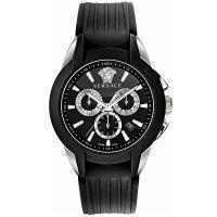 Versace Uhr M8C99D008S009 Herrenuhr Chrono Schwarz Edelstahl Watch NEU & OVP