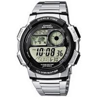 Casio Uhr AE-1000WD-1A Digitaluhr Armbanduhr Herren Silber Weltzeit NEU & OVP