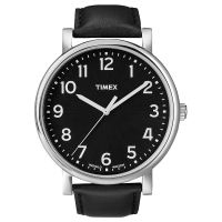 Timex Uhr T2N339 ORIGINALS Oversize Leder Schwarz B-WARE mit Gebrauchsspuren