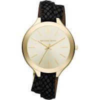 Michael Kors Uhr MK2315 Runway Damenuhr Gold Black Leder Double Wrap NEU & OVP