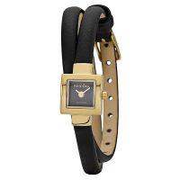 Pandora Damen Uhr 812026BK Leder Armband Schwarz Gold Lady Watch NEU & OVP