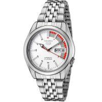 Seiko 5 Gent Uhr SNK369K1 Herren Automatikuhr Silber Weiß Rot Watch NEU & OVP
