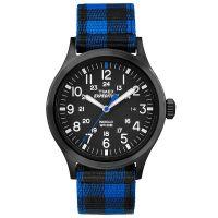 Timex Uhr TW4B02100 EXPEDITION Scout Textilarmband Schwarz Blau Watch NEU & OVP