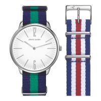 Pierre Cardin Uhr PC106991F10 La Gloire Herren Damen Textil Silber NEU & OVP