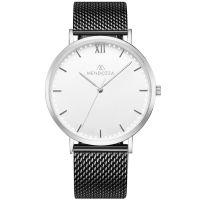 Mendozza Uhr MW-RS0100H-BM White Moon Armbanduhr Silber Weiß