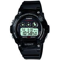 Casio Uhr W-214HC-1A Herren Damen Digitaluhr Armbanduhr Silber Schwarz NEU & OVP
