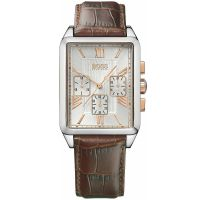 Hugo Boss Uhr 1512725 Herrenuhr Braun Silber Leder Men Watch Silver NEU & OVP
