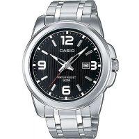 Casio Uhr MTP-1314PD-1A Herren Armbanduhr Edelstahl Schwarz Silber Men NEU & OVP