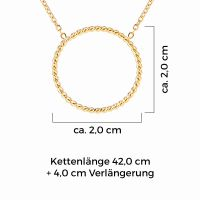Mendozza Kette MJ-NE02340L Damen Collier Gold Ring Anhänger