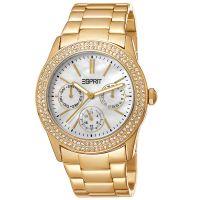 Esprit Uhr ES103822012 Damen Chrongraph Edelstahl Gold Strass Watch NEU & OVP